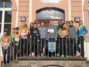 """3. Platz für die Frauenstaffel """"2Cool4School"""" der Dr.-Walter-Bruch-Schule beim Globus Marathon 2017"""