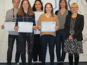 Schülerinnen und Schüler des beruflichen Oberstufengymnasiums der Dr.-Walter-Bruch-Schule erhalten international anerkannte Sprachzertifikate in Französisch