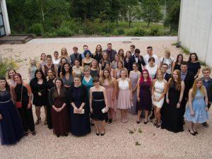 Impressionen der Abschlussfeier der Sozialpflegeschule sowie der Fachoberschule Fachrichtung Gesundheit und Soziales