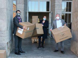 Masken zur Verfügung: 18.000 Masken für die Dr.-Walter-Bruch-Schule St. Wendel